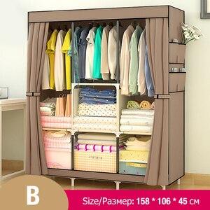 Image 2 - Многофункциональный нетканый шкаф Actionclub, пыленепроницаемый высококачественный шкаф для хранения одежды
