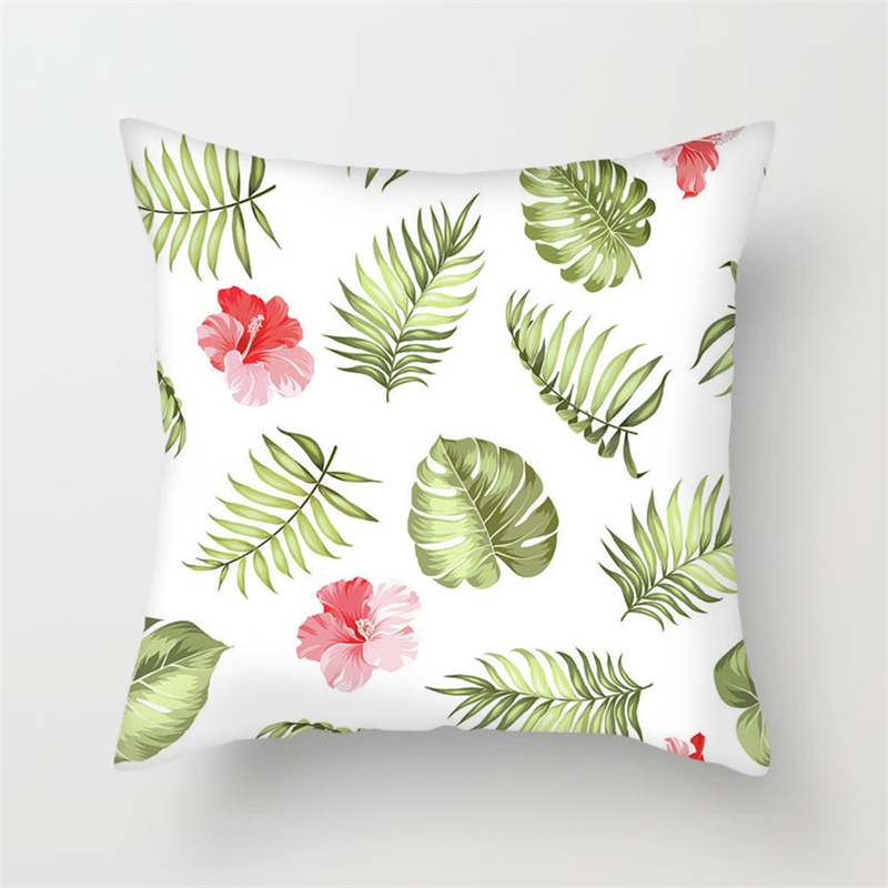 Fuwatacchi Tropical Plant Animal Paint Cushion Cover Flower Throw Pillows Cover for Home Sofa Chair Decorative Pillows Cover in Cushion Cover from Home Garden