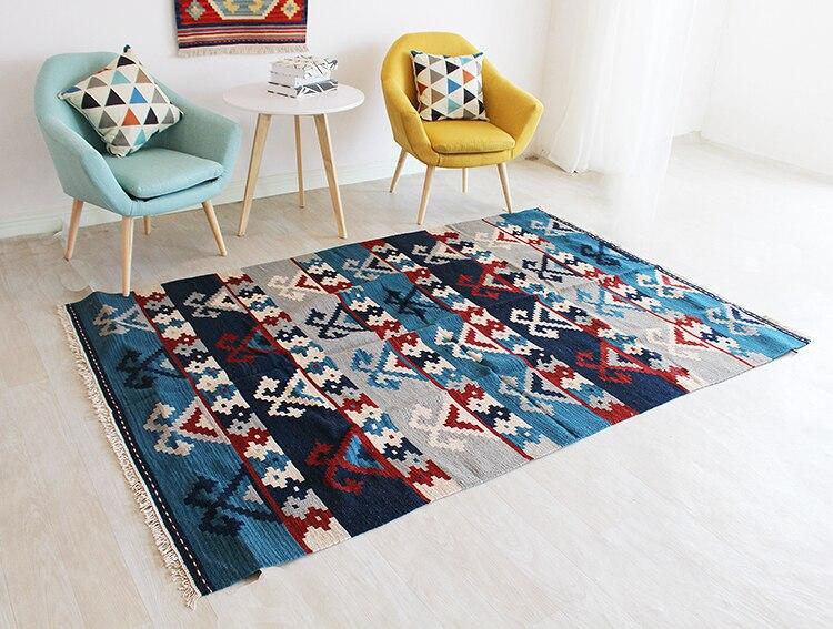 Kilim tapis laine tapis noué à la main nouvelle annonce Vintage modernisme géométrique laine tapis tapis