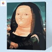 Bezramowe Diy Cyfrowy Obraz Numerami Słynnego Obrazu Kobieta Farbą Akrylową Nowoczesne Wall Art Canvas Malarstwo Dla Home Decor