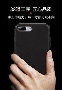 Image 2 - Dla iphone 7 7 Plus skórzane etui z bydła 100% oryginalne etui z prawdziwej skóry Duzhi dla iphone 7 8 odporne na wstrząsy skórzane etui