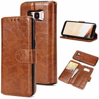 PRO S7 Luxury Flip Genuine Leather Case For Samsung Galaxy S7 Edge Case Wallet Phone Bag