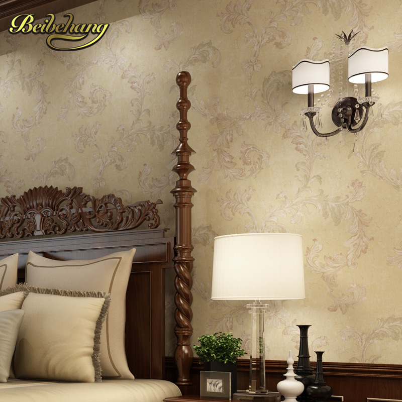 beibehang wall paper Pune Continental nonwoven shop for retro wallpaper ranunculus sweet potato leaves the bedroom living room beibehang wall paper pune korean girl room backdrop bedroom children s room shop for environmental non woven wallpaper shipping