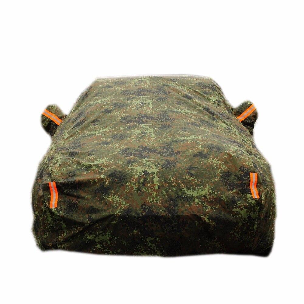 Voiture couvre soleil en plein air protection de couverture de tissu pour voiture réflecteur poussière pluie neige de protection berline camo couleur