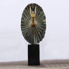 European style antique copper dancing lady design artistic collection sculpture
