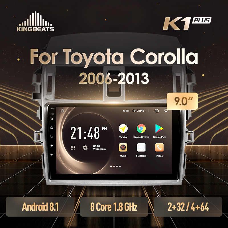 KingBeats アンドロイド 8.1 オクタ · コアヘッドユニット 4 グラムダッシュカーラジオマルチメディアビデオプレーヤーのナビゲーションの Gps トヨタカローラ 10 E140 E150 2006-2013 no dvd 2 ディンダブルディンカー Android のカーステレオ 2din DDR4 2 1G の RAM 32 グラム ROM/4 + 64