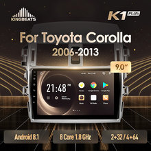 KingBeats Android 8.1 unità di testa 4G Car Radio Multimedia Video Player di Navigazione GPS Per Toyota Corolla 10 E140 E150 2006 2013(China)