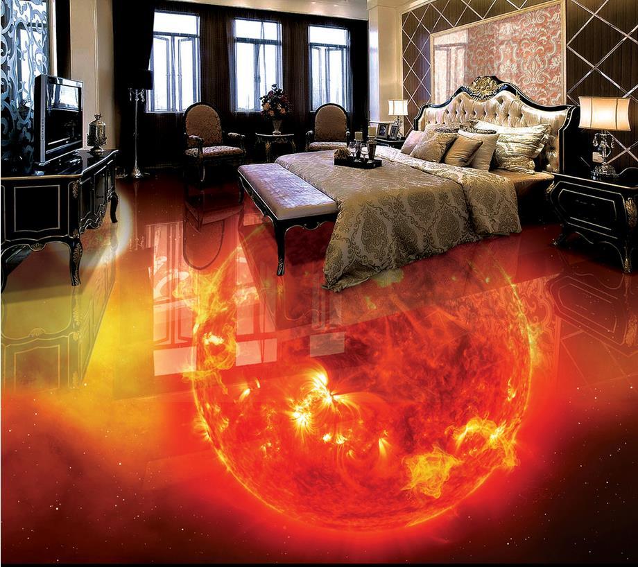 Custom photo floor wallpaper 3d  PVC waterproof floor Home Decoration Custom Photo self-adhesive 3D floor