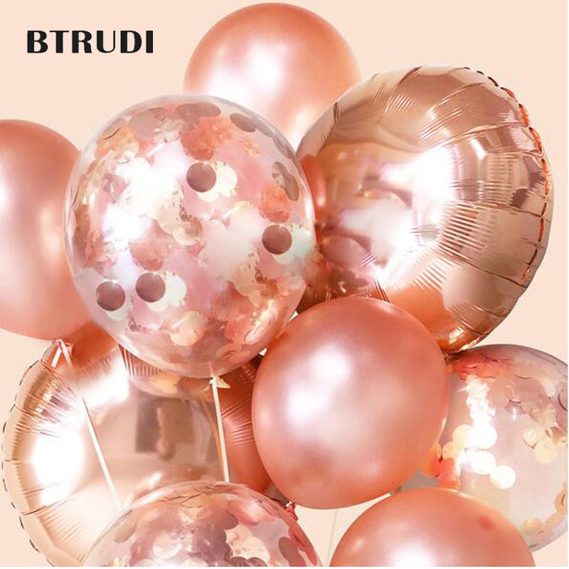 12-inch rose gold Pearl latex balloons Apply to Wedding decoration Birthday Party Anniversary Family party holiday items