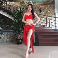 Hot Sale New Oriental Dance Costumes Wuchieal woman Belly Dance Costume top+skirt suits dance Clothes QC2655 3