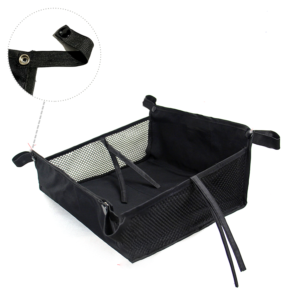Bottom Basket Large Capacity Universal Baby Pushchair Outdoor Organizer With Strings Easy Use Stroller Storage Bag Accessories