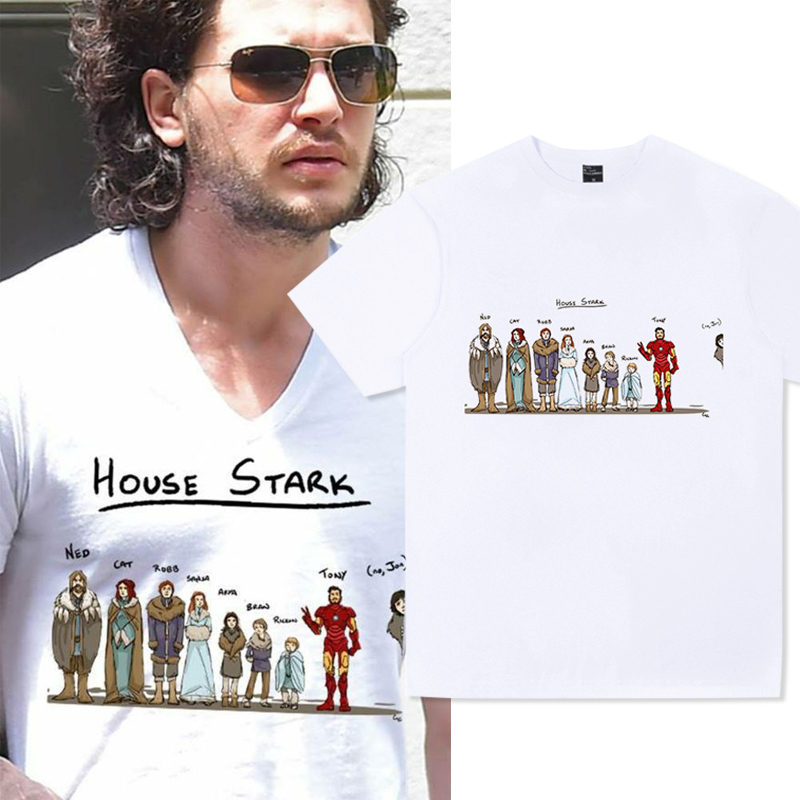 2019 Men's Game Of Thrones T Shirt House Stark Snow Arya NOT TODAY Printed Shirts Women Casual Tee Tops Plus Size Streetwear image