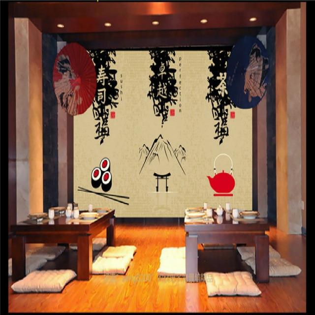 Custom 3D Behang Japanse stijl restaurant voor woonkamer Restaurant ...