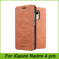For Xiaomi Redmi 4 Pro Cover Flip PU Leather Cases Mofi Original For Xiaomi Redmi 4