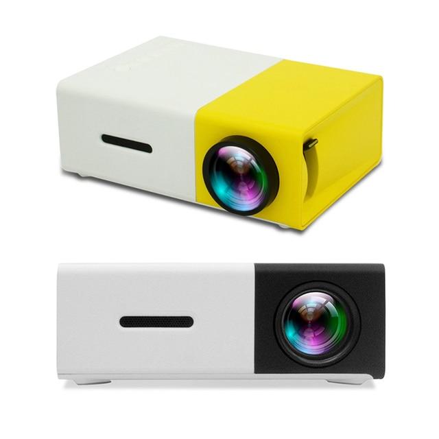 Flash Promo YG300 LED Mini Projector High Resolution Ultra Portable HD 1080P HDMI USB Projector Media Player US EU AU UK Socket Two colors