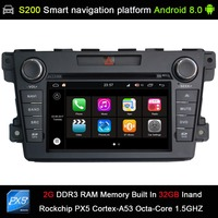 Android 8.0 system PX5 Octa 8 Core CPU 2G Ram 32GB Rom Car DVD Radio GPS Navigation for Mazda CX7 CX 7 CX 7 2007 2015