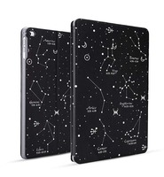 Ultra slim case for new Ipad 2017 version 9.7inch, Constellation design A1822 smart cover, PU leather&PC material, Black Color