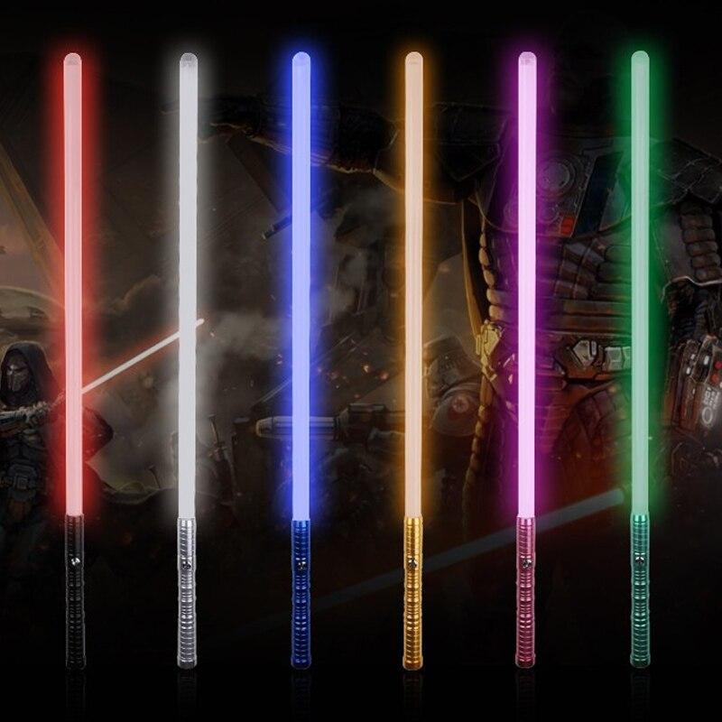 Nueva venta unids 1 pieza Cosplay 100 cm longitud sable de luz espada parpadeante Luke juguete electrónico cielo luz Saber juguete cumpleaños regalo de Navidad - 5
