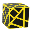 2016 New Fangcun Ghost Cube 3x3(Black Blue Pink Yellow Color,assembled without stickering) Magic Cube Puzzle Toys Stickers3x3x3