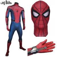 Ling Bultez Высокое качество Homecoming человек паук шутер с костюмом том Человек паук костюм с 3D логотипом новый том Человек паук косплей