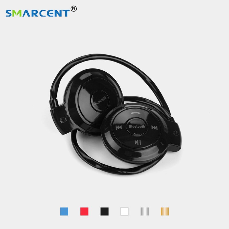 New Bluetooth Stereo Bass Headphone Handsfree Earpiece Sweatproof Sports Headset Wireless Earphones Support TF Card for Fitness