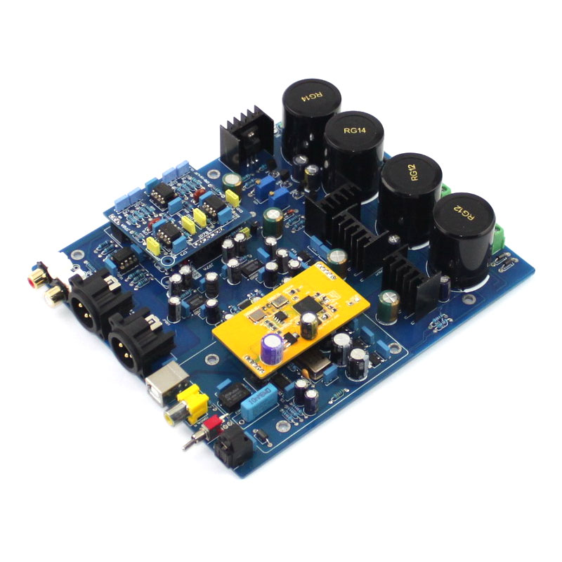 DSD1796 amplifier Dual Chip Decoder (without XMOS U8 daughter card) Finished board xmos u8 wm8741 usb decoder board ad827 op amp amplifier board