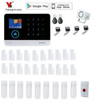 Yobang Security 2.4 inch monitor Wireless Home Security WIFI GPRS GSM Alarm system APP Remote Control RFID burglar alarm