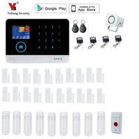 Yobang Security 2.4-inch monitor Draadloze Home Security WIFI GPRS GSM alarmsysteem APP Afstandsbediening RFID inbraakalarm