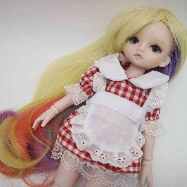BJD Girl dolls 30 CM plastic doll selling with Kimono,wigs
