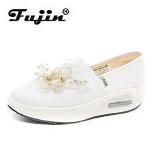 Fujin  Chunky Sneakers Chaussures Femme Fleur Designer Shoes White Dropshipping Moda Mujer 2019 Fashion Ladies