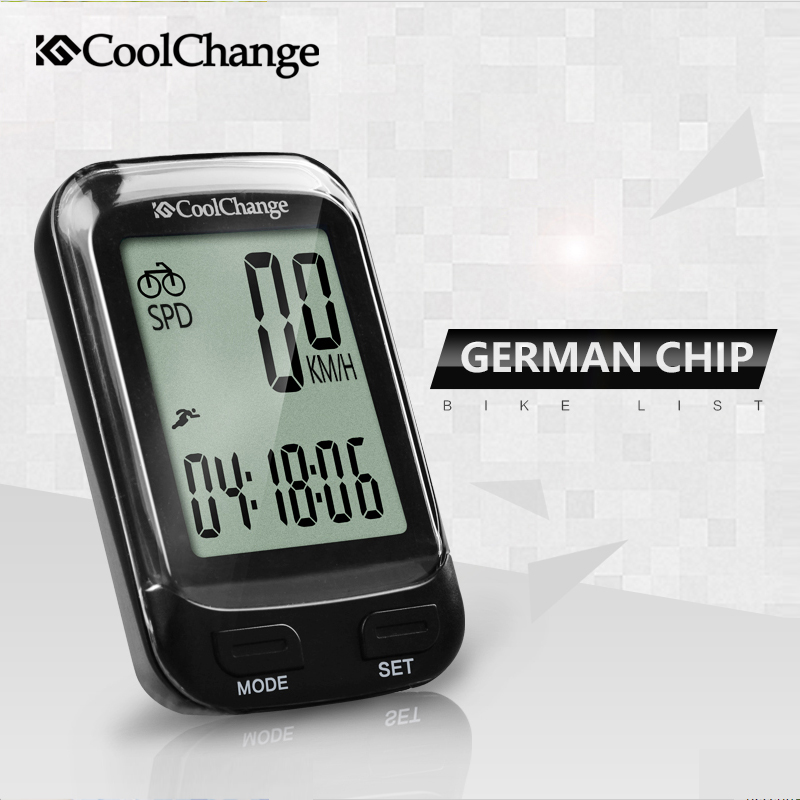2018 CoolChange Bike Computer Wireless Waterproof Bicycle Computer Speedometer Cycling Odometer Measurable Stopwatch Accessories coolchange 27005 waterproof cycling bike rubber handlebar covers black pair