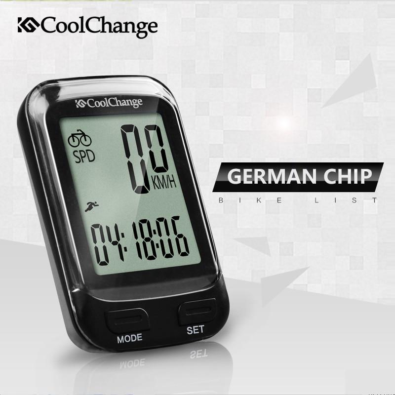 2018 CoolChange Bike Computer Wireless Waterproof Bicycle Computer Speedometer Cycling Odometer Measurable Stopwatch Accessories