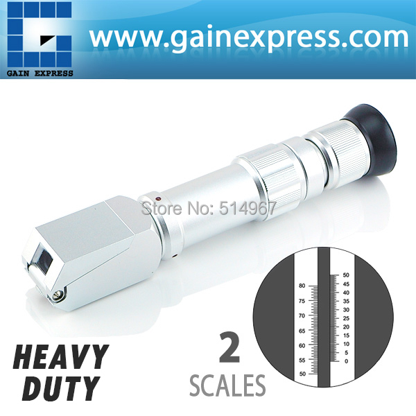 NEW  Handheld 0-80 Wide Range Heavy Duty Brix Refractometer Syrup Jam CNC with  Dual Scales and Adjustable Focus