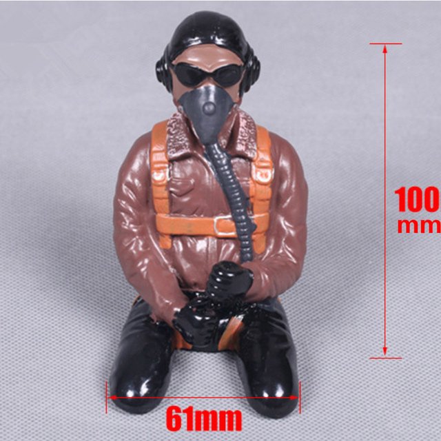 US $9 99  FMS RC Airplane Pilot Figure for 1700mm P51 / 1400mm P51 Red Tail  FMSPilot004 Model Plane Parts Black People Wabird Scale Driver-in Parts &