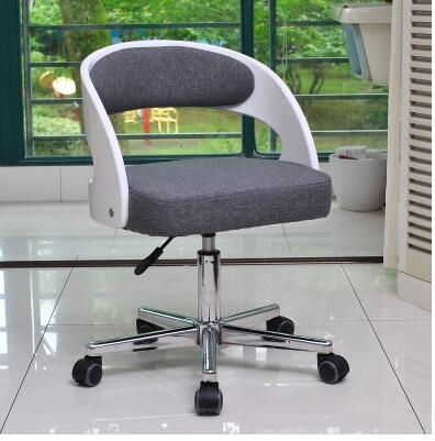 Strengthen solid wood swivel chair. Home office study desk. Chair single swivel.001 the nordic chair solid wood chair cloth art single person sofa chair