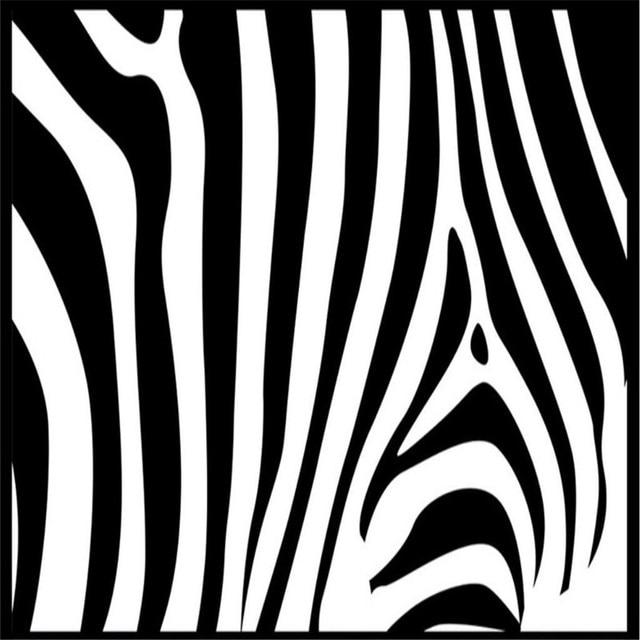Arrière Plan personnalisé Photo Papier Peint Noir Blanc Zebra ...