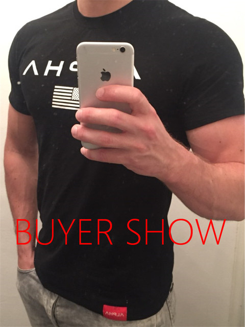 Brand clothing Gyms Tight t-shirt mens fitness t-shirt homme Gyms t shirt 3