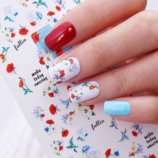 Graphical Flower Water Decal Make Today Amazing Love You More Nail ...