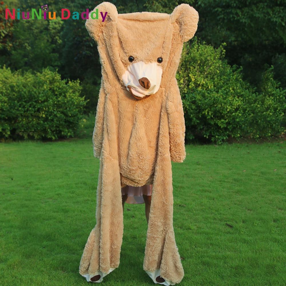 120cm United State Bear Teddy Bear odos plush odos apvalkalas American Bearskin Shell Gamintojas Parduoda #
