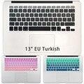Градиент Клавиатура Кожного Покрова для MacBook Air 13 Pro 13 15 Retina Турции Силиконовые Турецкий Евро Войти Наклейки на Клавиатуру