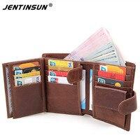 100 Genuine Leather Men S Wallet Brand Designer Zipper Hasp Vintage Short Coin Purse Male Wallets