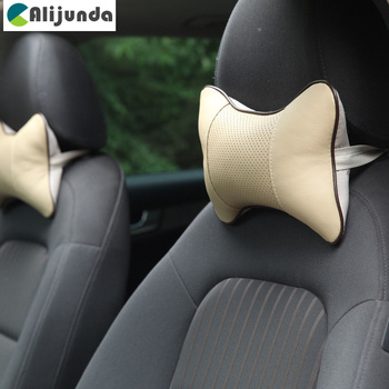 1 PCS artificial leather car seat pillow protection your neck for BMW X-series 3-series 5-series 7-series E F-series image