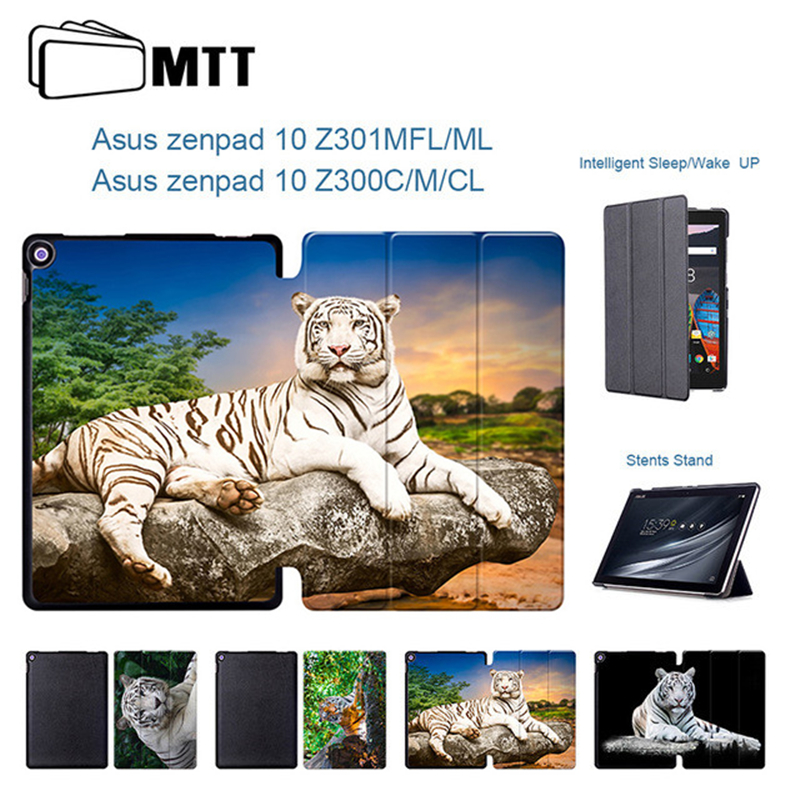 MTT Tiger Protector Skin Cover For Asus Zenpad 10 Z300 Z300M Z300C Z300CG Z301 Z301MFL Z301ML 10.1 inch Tablet PU Leather Case