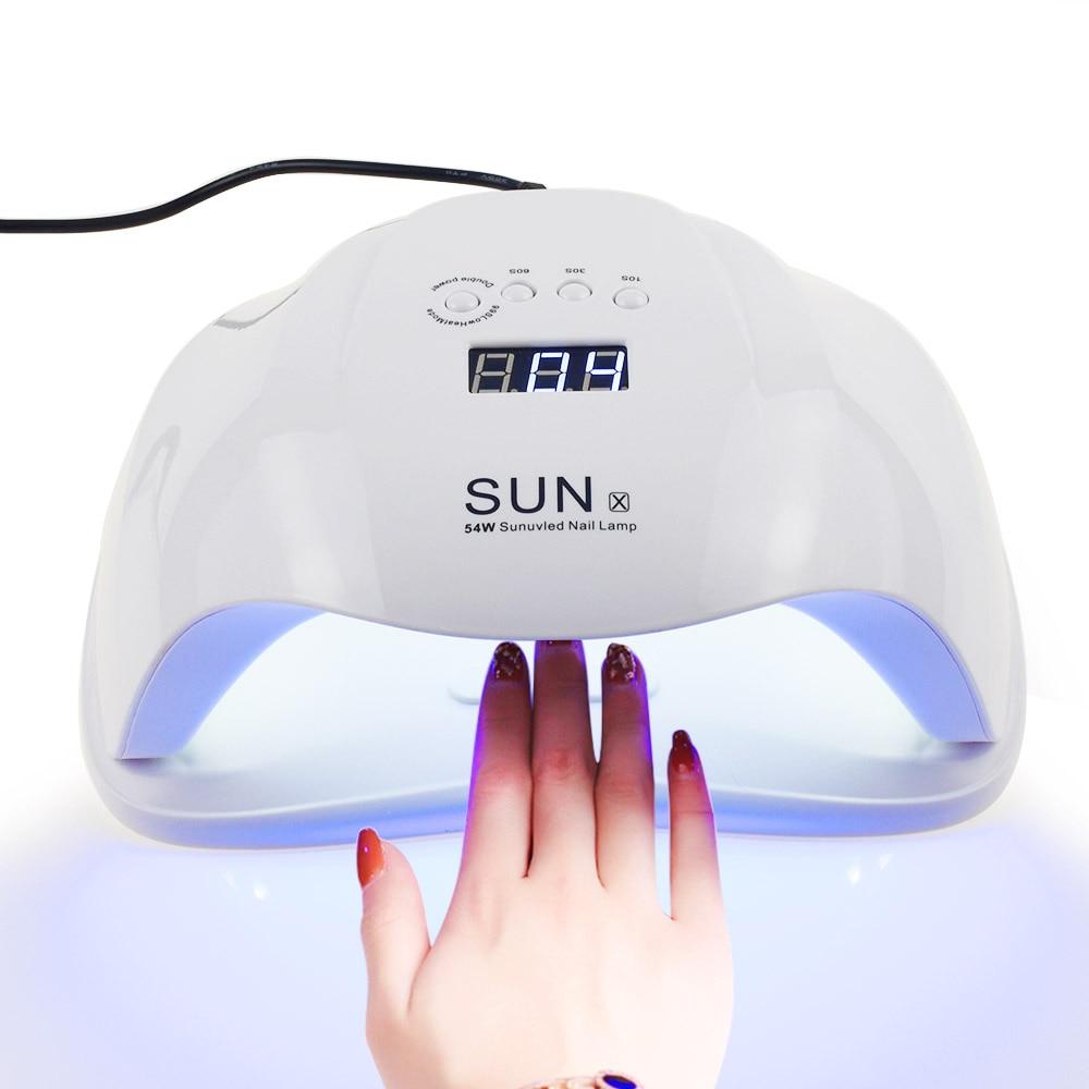 SONNE X 48/54 watt Nagel Trockner UV LED Nagel Lampe LCD Display 36 LEDs Trockner Lampe für Aushärtung gel Polnisch Auto Sensing Nagel Maniküre Werkzeug