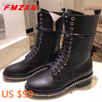 Женские кожаные ботинки высокого качества из натуральной кожи, мотоциклетные ботинки высокого качества, женские кожаные зимние ботинки на