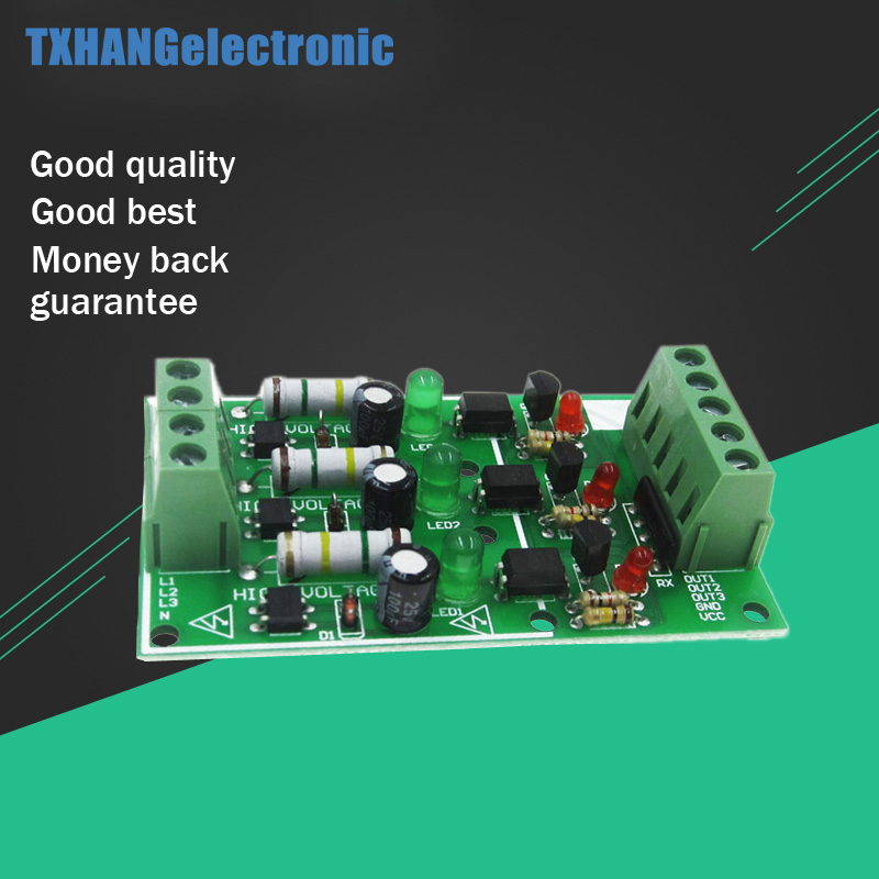 3 Channel Optocoupler Isolation Module AC 220V Isolated Board Testing Module No PCB Holder AC Detection Module3 Channel Optocoupler Isolation Module AC 220V Isolated Board Testing Module No PCB Holder AC Detection Module