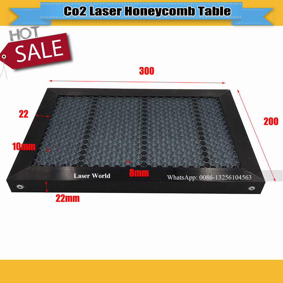 High Quality Honeycomb Table For Laser Engraver  Cutting  Machine  Honey Comb  200x300mm CO2 Laser Engraver Cutting Steel Mesh
