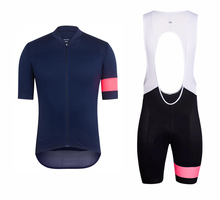 Navy Pink PRO TEAM Cycling jersey And Bib shorts for Race cut Italy miti fabric jersey Top quality bib set for long time ride