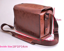 Coffe Color Luxury Digital Camera PU Leather Case Bag For Leica T/M/S  V LUX4 Leica X Vario Black/Silver For Leica D LUX 6 X2