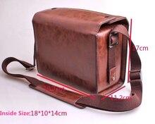 Coffe kolor luksusowy aparat cyfrowy PU skórzany pokrowiec torba dla Leica T/M/S V LUX4 Leica x vario czarny/srebrny dla Leica D LUX 6X2